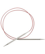 """Red Lace Stainless Steel Circular Knitting Needles 40""""-Size 7/4.5mm, S... - $25.95"