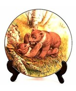 The Forest Year Bear Cubs Join In A May Frolic John Francis Bear Plate M... - $32.00