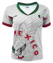 Mexico Women Fan Jersey White Exclusive Design_V Neck _Made in Mexico. - $24.74+