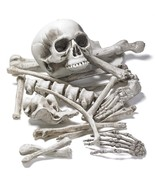 Skeleton Bones And Skull Bag For Best Halloween Decoration Graveyard - £17.54 GBP
