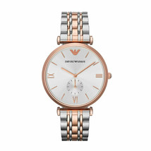 New Emporio Armani Women's Quartz Stainless Steel Two Tone Watch AR1677 - £113.90 GBP