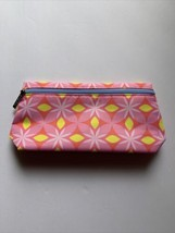 Clinique Makeup Cosmetic Travel Bag Pouch Pink Yellow Floral NEW 9x5 in... - $1.99
