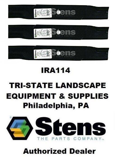 "Primary image for 320-535 (3) Stens Rolled Air-Lift Blades 50"" Deck Gravely 046998 Toro 113579"