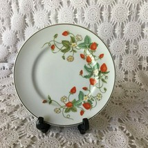 Avon Strawberry Flowers 22 K Trimmed Porcelain Plate 1978 - $11.63