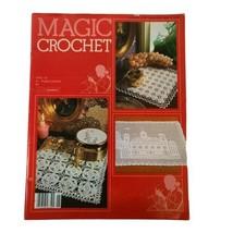 Vintage Magic Crochet Tricot # 26 Pattern Knitting Magazine Table Runner... - $13.55