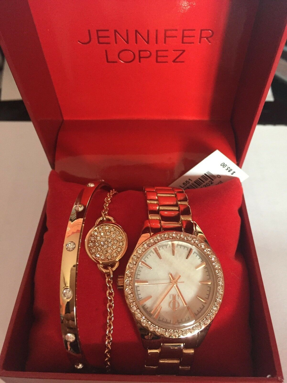 JENNIFER LOPEZ JAPAN MOVEMENT STRAP WATCH SET - NEW WITH TAG