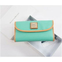 Dooney and Bourke Jade Green Pebbled Leather Trifold Wallet NWT - $108.41
