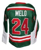 Custom Name # Mexico Retro Hockey Jersey New Green Any Size image 4