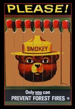 Smokey the Bear Prevent Forest Fires Metal Sign - $29.95