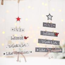 Christmas Decorations Tree Ornament Patterned Hanging Accessories Supplies - $3.50