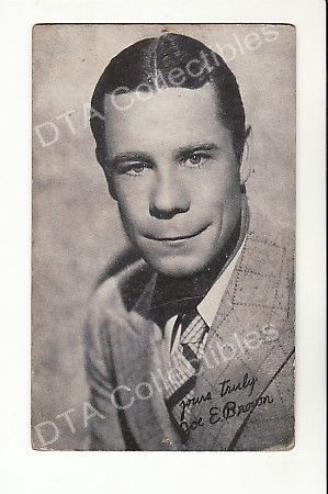 Primary image for JOE E. BROWN-ACTOR-ARCADE CARD-1940 G