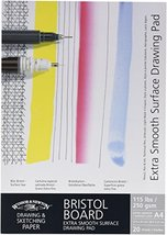 Winsor & Newton Artists Bristol Board Extra Smooth White Card Pad 250g A4 - $24.74