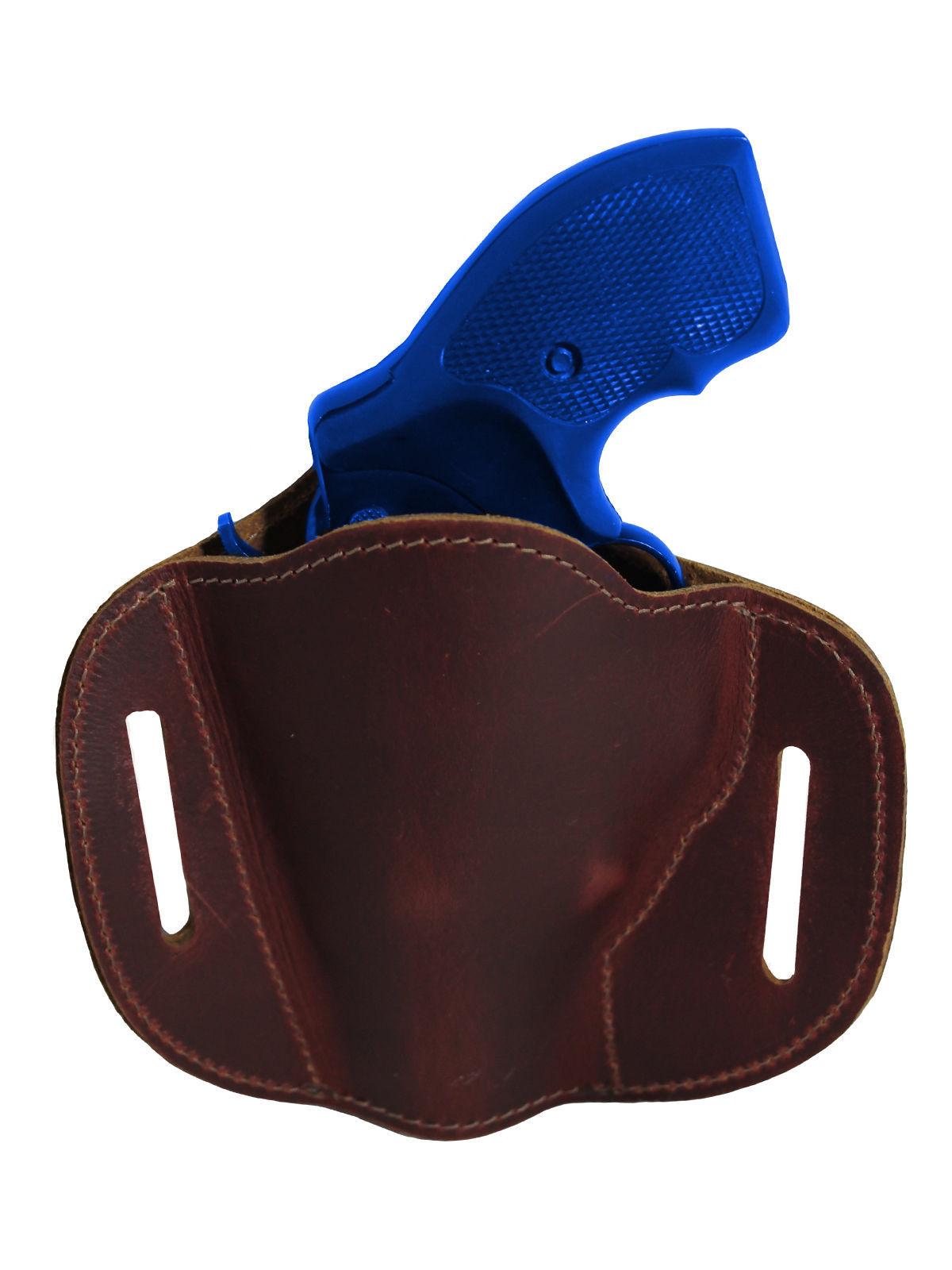 """New Barsony Burgundy Leather Pancake Slide Holster for Snub Nose 2"""" Revolvers"""