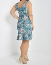 Plus Size Blue Dress, Blue Floral Dress, Plus Size Dress, Blue Print Dress image 3