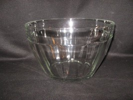 VERY LARGE CLEAR GLASS BOWL - $14.46