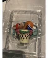 VTG Mistletoe Magic Collection Christmas Ornament Mouse In Basketball Hoop - $10.66