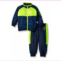 Reebok Boys' Tricot Set,QBH54271, Indigo Blue, Size 24Months, MSRP $48 - $20.90