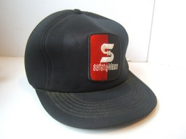 Safety Kleen Patch Stained Work Hat Beat Up Vintage Black Snapback Foam Cap - $15.20