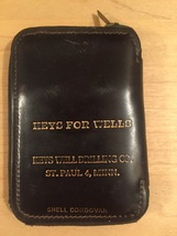 Vintage 50s Cordovan (Equine Leather) Zippered Key Wallet image 3