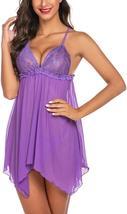 Avidlove Women Lingerie Lace Babydoll Sexy Nightgown Sheer Sleepwear image 6