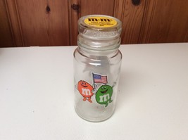 VINTAGE M&M's Commemorative Collectible Glass Jar w/Lid -1984 from L.A. ... - $5.00