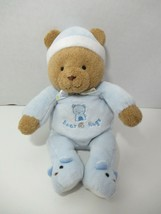Carters Child Of Mine Plush Brown Teddy Rattle Bear Hugs blue pjs hat sl... - $49.49