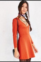 Urban outfitters Cooperative knit Dress Small Orange - £16.17 GBP