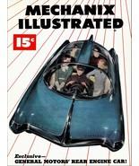 Decor Poster.Interior home.Room design.Retro car of future.Mechanic shop... - $9.90+