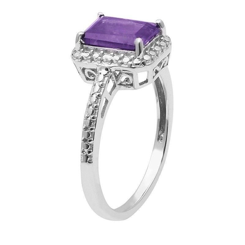 Amazing Design Purple Cz 925 Sterling Silver Ring Jewelry Size-8.5 SHRI1482
