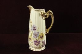 Antique Porcelain Tankard Applied Old Man Winter Face and Dragon Handel ... - $209.50