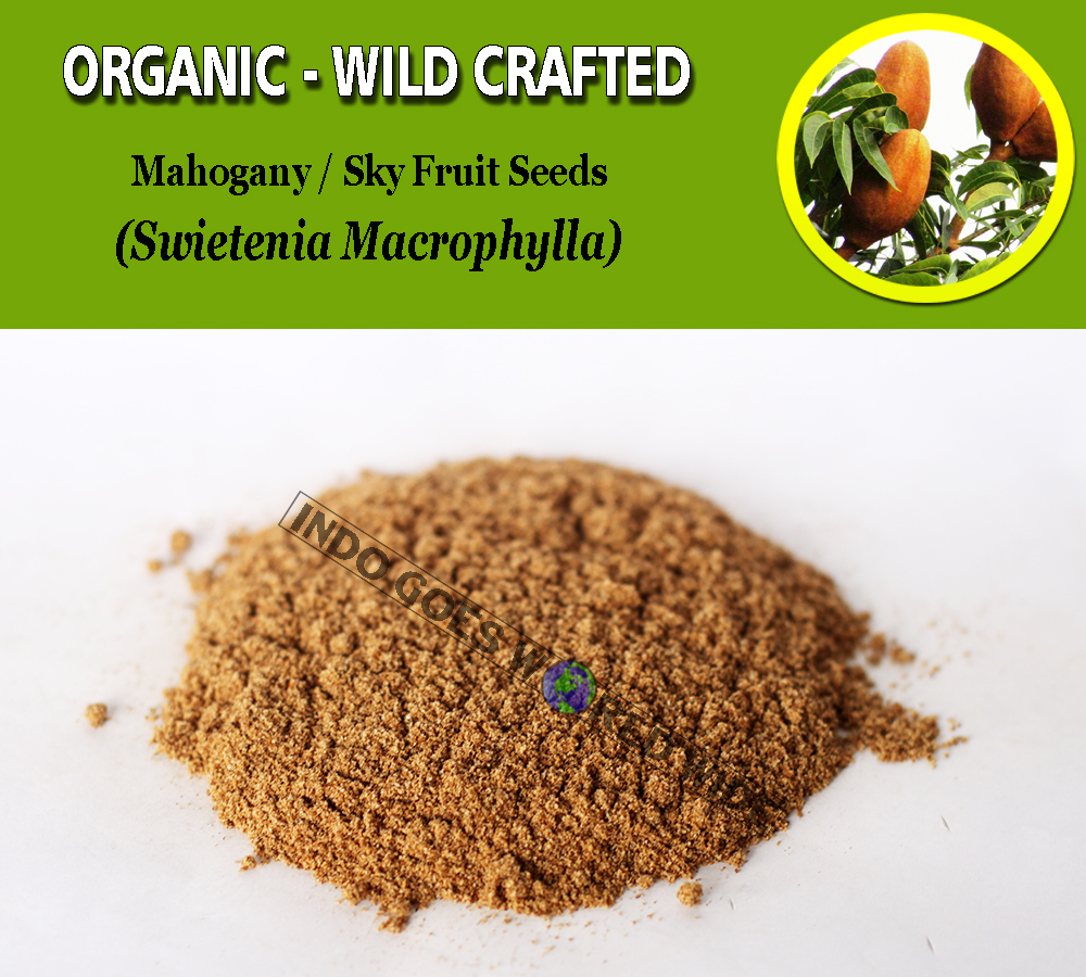 POWDER Mahogany Sky Fruits Swietenia Mahagoni Organic Wild Crafted Fresh Herbs