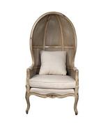 Shabby Chic Linen Rattan Vintage Style Balloon Chair - $900.00
