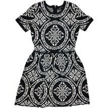 Romeo & Juliet Sweater Dress Size Medium Black White - $27.36