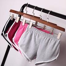 New 2017 Women Cotton Blend Summer shorts 4 colors contrast binding side split e - $29.20