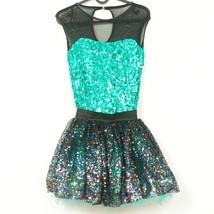 Weissman Dance Costume S Adult Green Sequin 10294 Tutu Black My New Phil... - $27.58