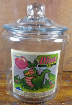 Concord Canada Dino Bubble Gum Dinosaur Blowing Bubbles Glass Counter Ja... - $32.37