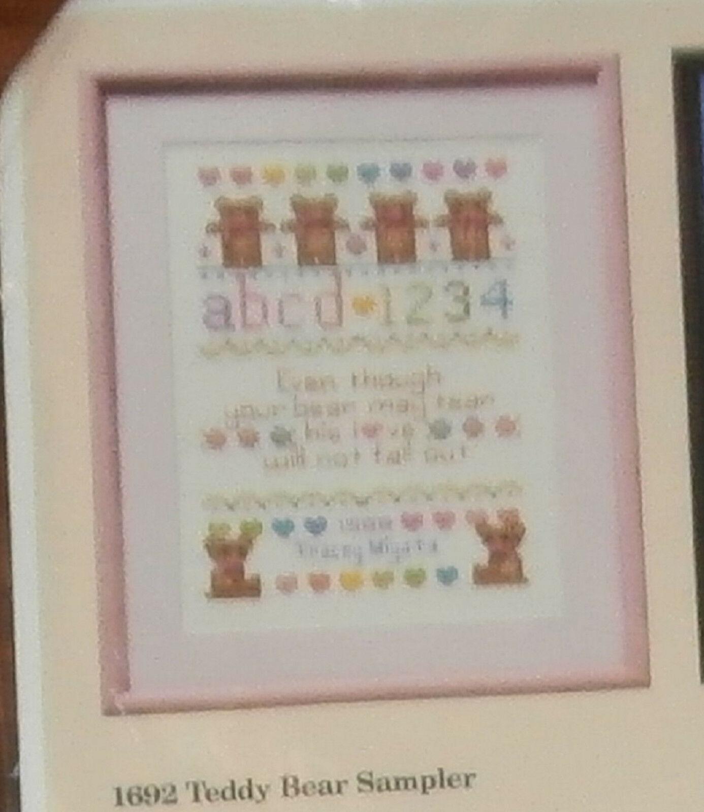 "Creative Circle #1692 Teddy Bear Sampler Unopened 12"" x 16"" Cross Stitch - $8.79"