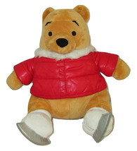 "2011 Winnie the Pooh Plush Ice Skating Christmas Holiday 18"" Disney Store - $14.84"