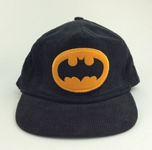 Vintage DC Comics BATMAN HAT Black Corduroy Embroidered bat logo 1964 Ad... - $28.41