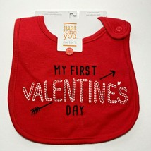 My First Valentine's Day Bib Carter's Teething Cloth Baby Shower Just On... - $4.25