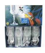 Crystal D'Arques France Longchamp Crystal Wine Glasses (4) NEW! NIB - $40.00