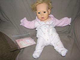 "Vintage Soft Vinyl Hasbro Real Baby 21"" Girl Judith Turner 1984 Hasbro Doll - $14.10"
