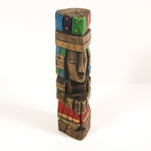 "9.5"" Artistic Wood Carving of Man Praying Totem Pole Art Figurine Statue... - $24.99"