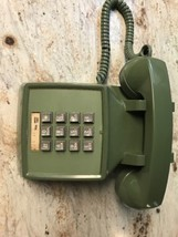 Vtg, Western Electric 2500 2500dSeries Phone Olive Green - Non Smoking Home - $37.39
