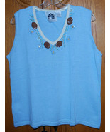 Storybook Knits Womens Plus Size 1X Sweater Tank Top Nordic Pines Christmas - $14.80