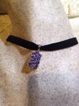 Vintage Genuine Blue Iolite 925 Sterling Silver Pendant Necklace Choker - $74.76