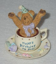 Boyd Bearstone Resin Bears H.B. Teabearie Happy Birthday To You Figurine... - $8.56
