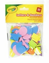 Children Kids Art Craft Crayola Foam Letters & Numbers Peel and Stick 80 pieces - $3.59