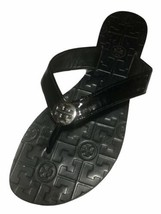 Tory Burch Women's Thora Black Patent Leather Thong Flip Flop Sandals - Size 9 M - $69.29