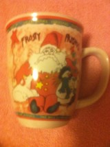 FROSTY FRIENDS   COFFEE MUG--CHRISTMAS / SANTA  / SNOWMAN - FREE SHIP--VGC - $14.49